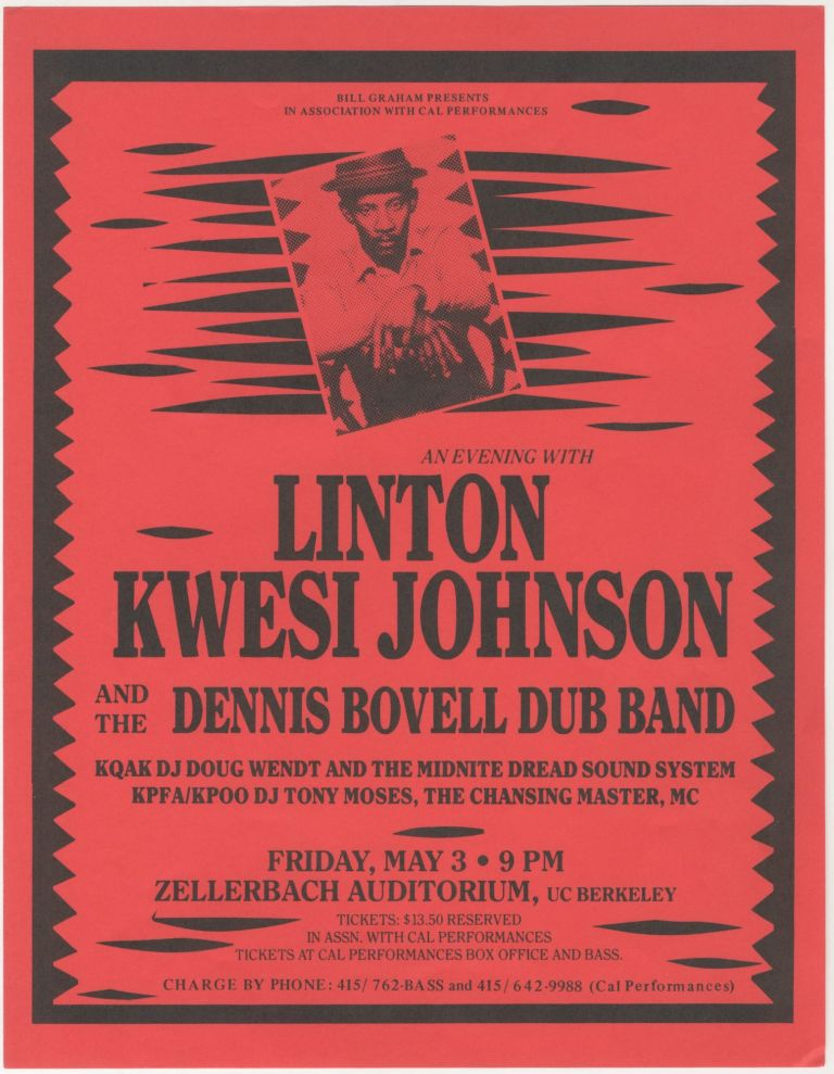 An Evening with Linton Kwesi Johnson and Dennis Bovell Dub Band. Linton Kwesi Johnson, Dennis Bovell Dub Band.