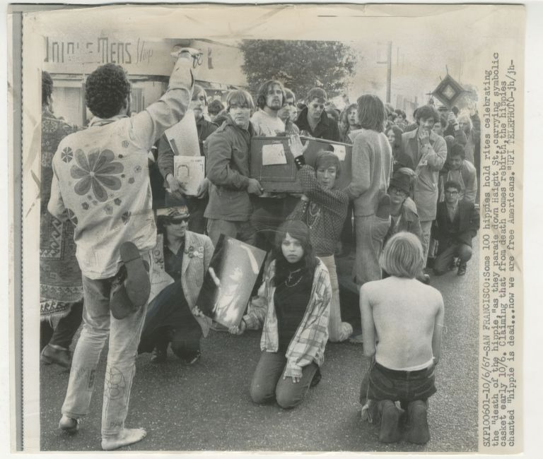 Death of the Hippie [Diggers, press photo]