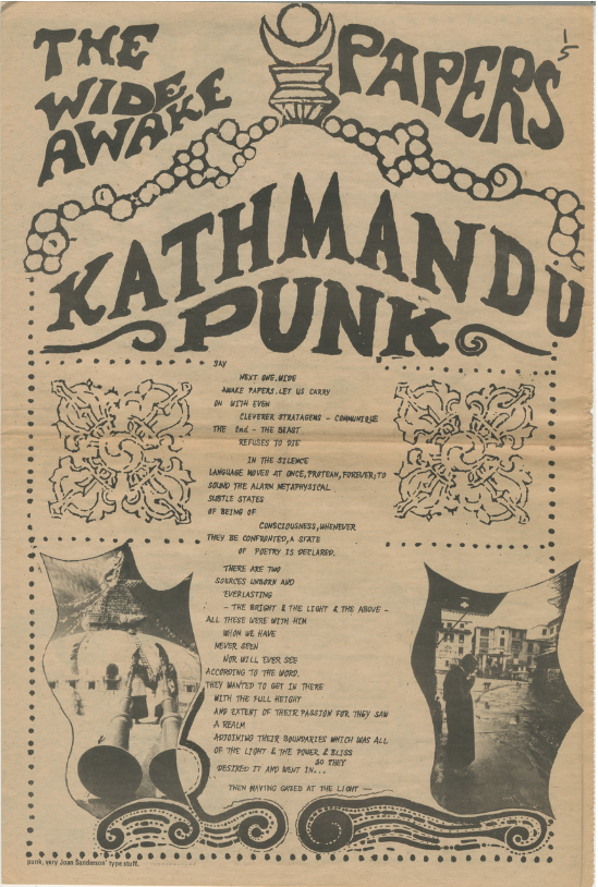 The Wide Awake Papers: Kathmandu Punk [pages from International Times]