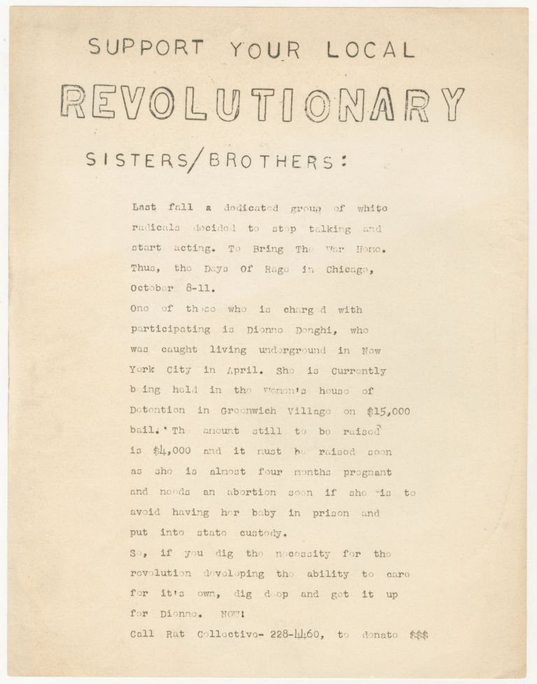 Support Your Local Revolutionary Sisters/Brothers