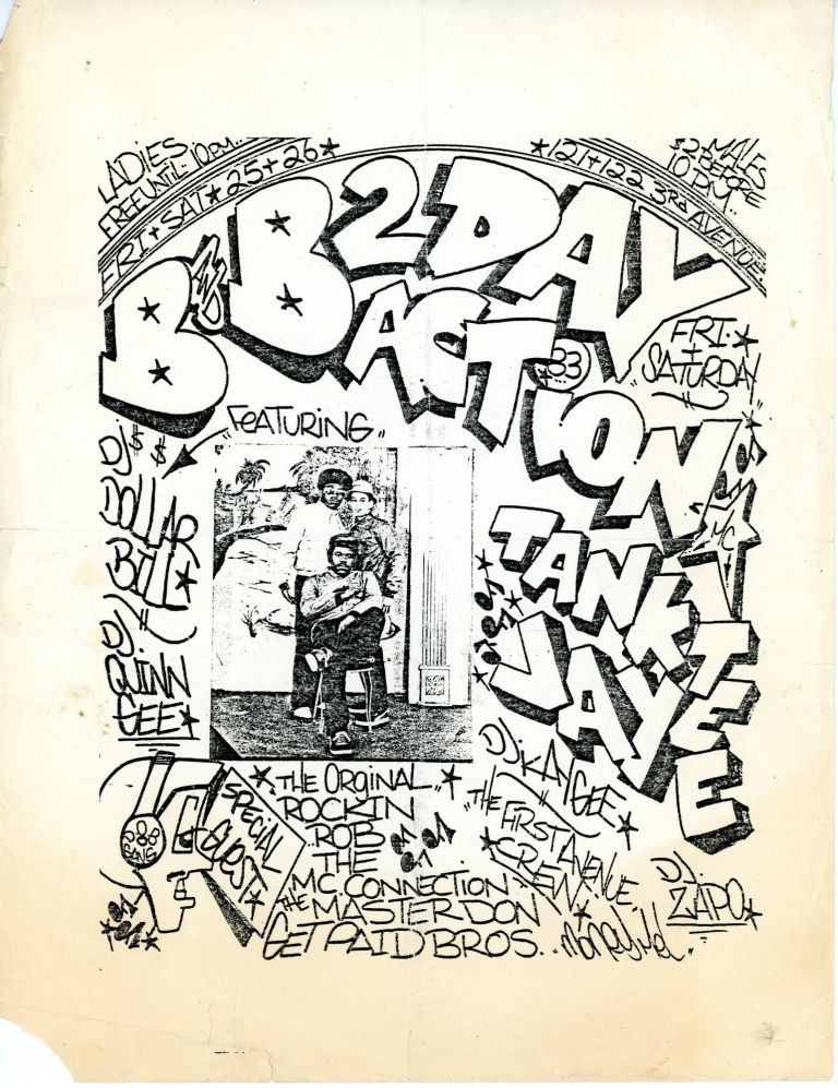 2 Day B and B Action [graffiti handstyle flyer]