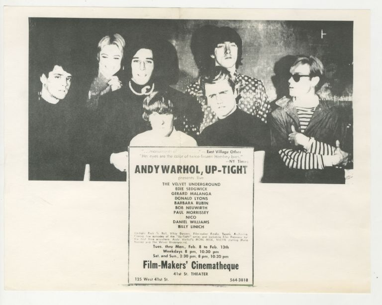 Andy Warhol, Up-Tight [First Warhol-Velvet Underground Collaboration, First Performance with Nico, First Screening of More Milk]