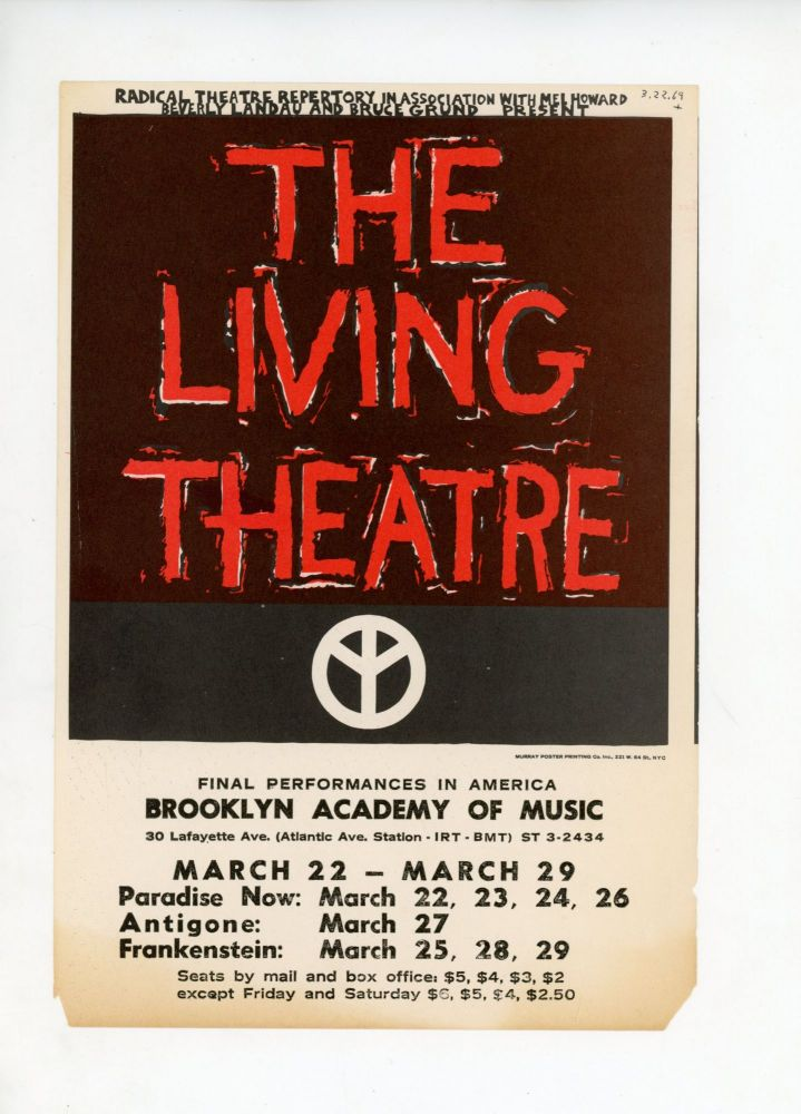 The Living Theatre: Final Performances in America