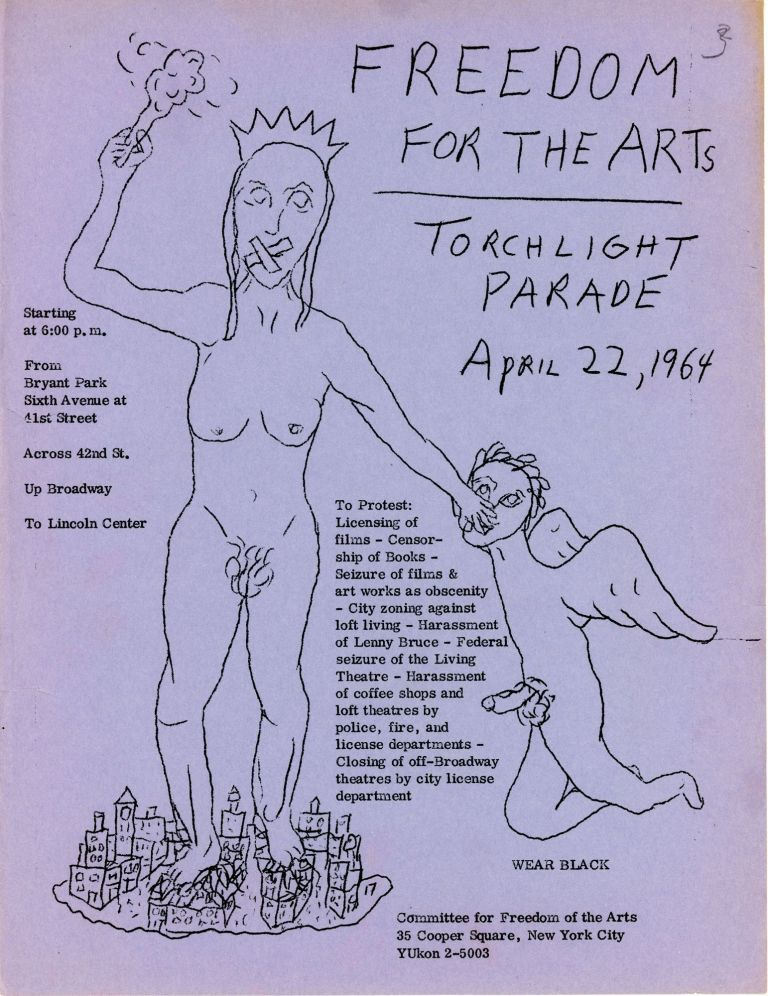 Freedom for the Arts: Torchlight Parade April 22, 1964