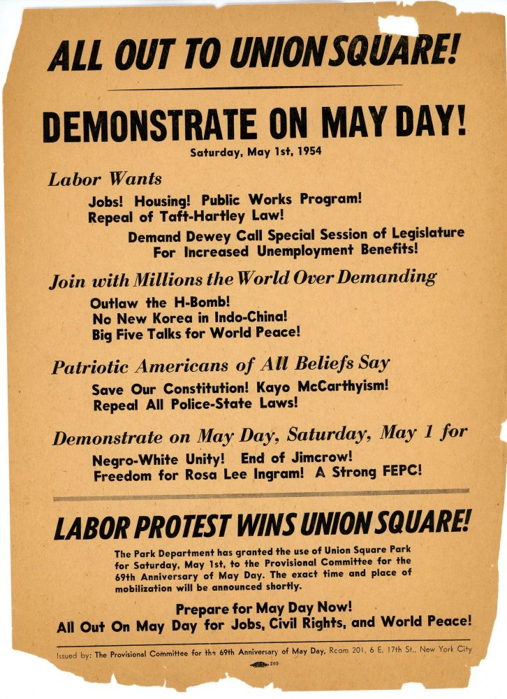 All Out to Union Square! Demonstrate on May Day!