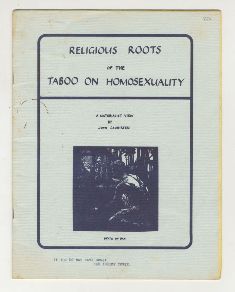 Religious Roots of the Taboo on Homosexuality: A Materialist View. John Lauritsen.