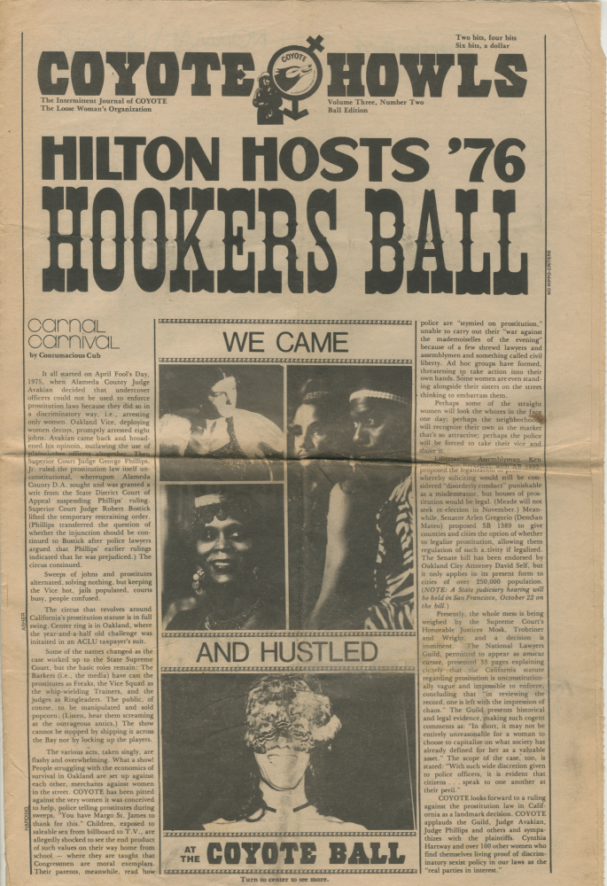 [Sex Workers Organizing] Coyote Howls, vol. 3, no. 2: Ball Edition