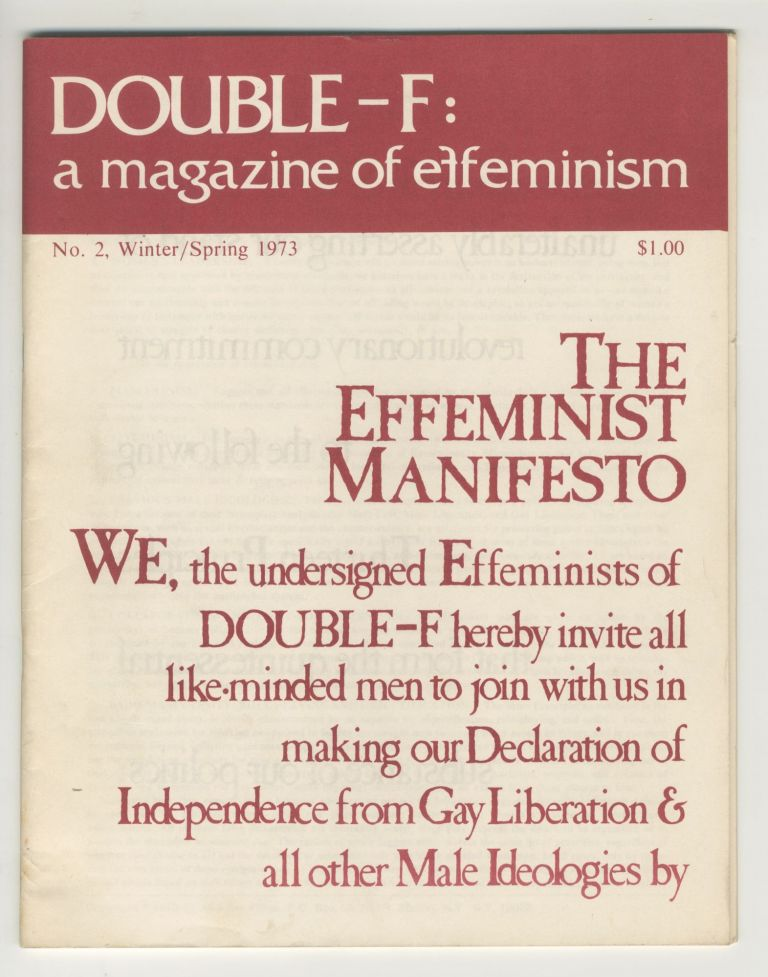 Double-F: A Magazine of Effeminism, no. 2, Winter/Spring 1973