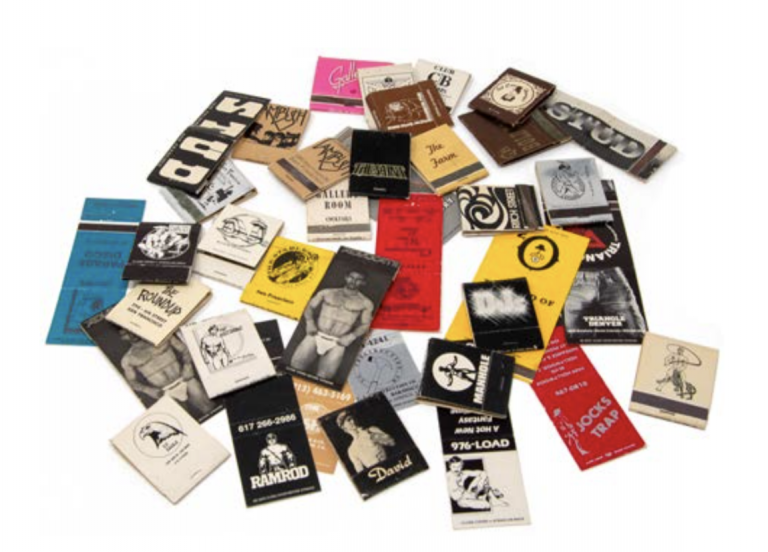 Thirty-Nine Matchbooks from Leather Bars and Gay Bathhouses