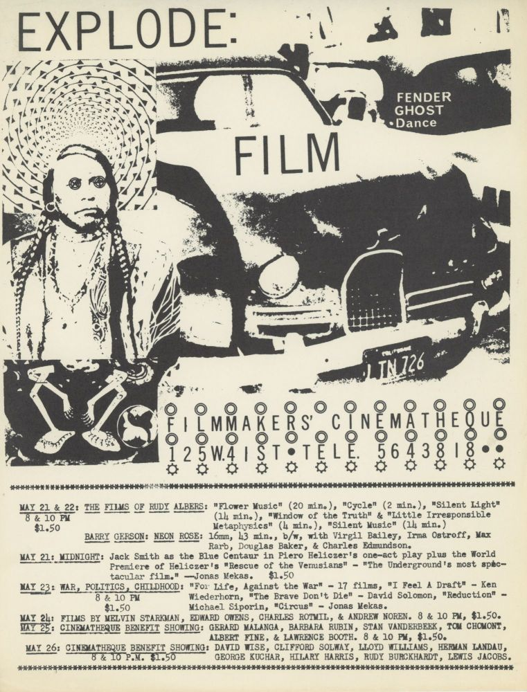 """""""Explode: Film"""" at Filmmakers' Cinematheque"""