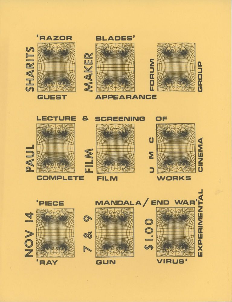 Paul Sharits Lecture and Screening at the Experimental Cinema Group
