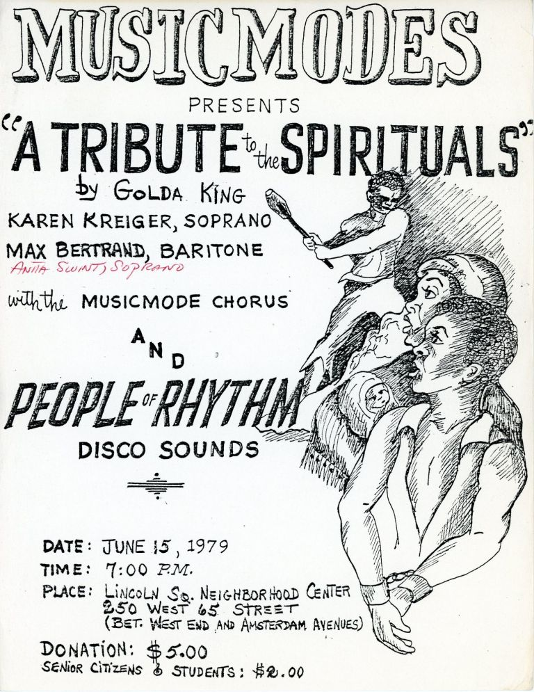 """Music Modes Presents """"A Tribute to the Spirituals"""""""