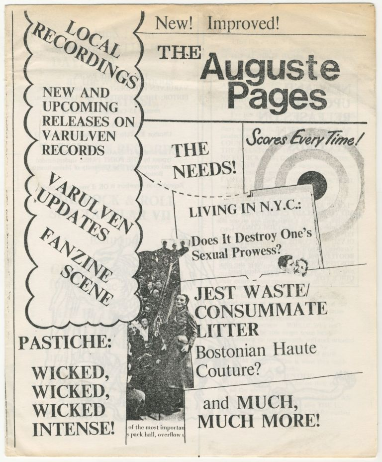 The Auguste Pages, Vol. 1, No. 13 (June 5, 1980). ed Lynne Lopatin.