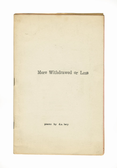 More Withdrawed or Less. D. A. Levy.