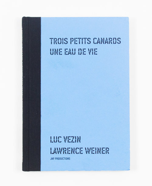 Two Signed books. Lawrence Weiner.
