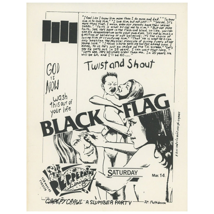 Black Flag at Peppermint Lounge. Raymond Pettibon.