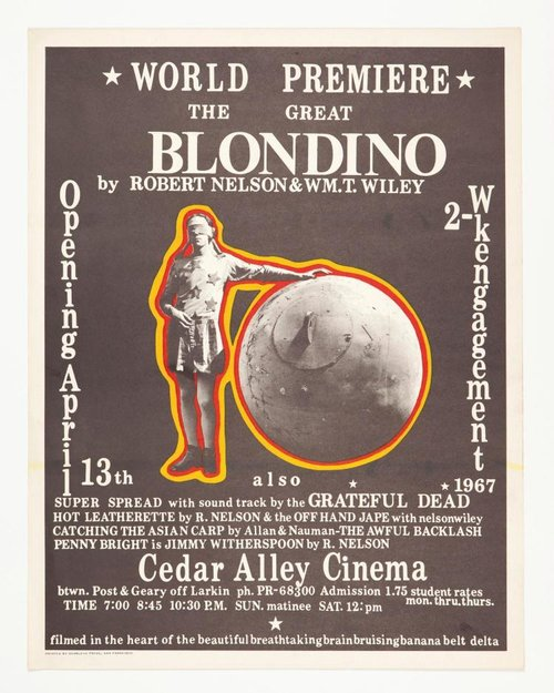 The Great Blondino (with soundtrack by The Grateful Dead). William T. Wiley.