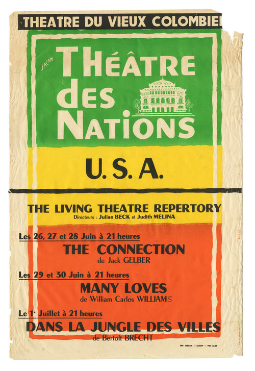 Theatre Des Nations Living Theatre. Marcel Jacno.