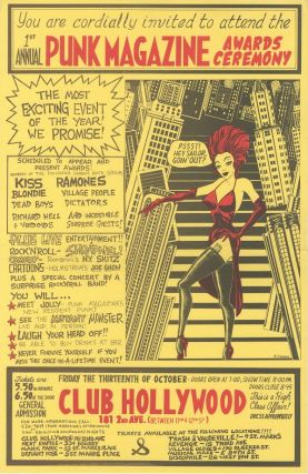 Punk Magazine Awards Ceremony Poster. John Holmstrom
