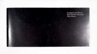 Galerie Projects Exhibition Catalog. Peter Saville Lovegrove and Brown, Peter Keene Associates,...