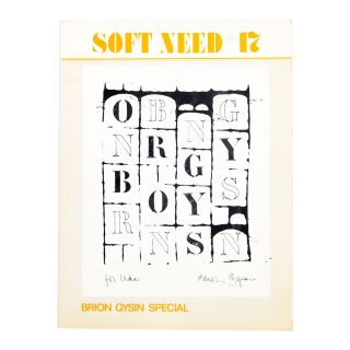 Soft Need #17: Brion Gysin Special. ed Udo Brego