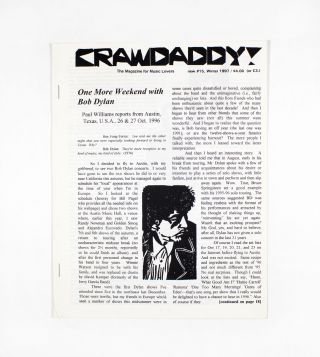 Crawdaddy!, new no. 15. ed Paul Williams