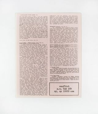 CONFLICT, Number 50, Fall 1989