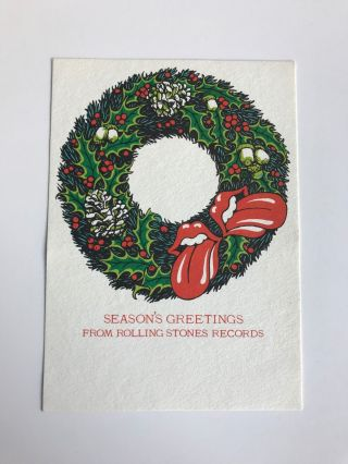 Rolling Stones Records Holiday Card. Rolling Stones