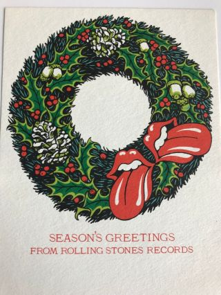 Rolling Stones Records Holiday Card