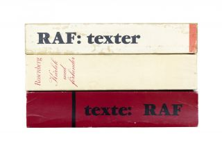 [Red Army Faction]. Texte: Der RAF [with] RAF: Texter [with] Karlek med förhinder [False Cover for Texte: Der RAF]