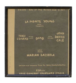 La Monte Young, Tony Conrad, Marian Zazeela, John Cale. Signed and Numbered Lithographed Poster...