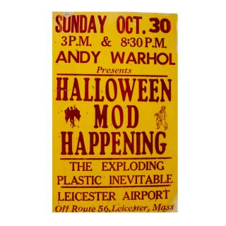 Exploding Plastic Inevitable. Andy Warhol Presents Halloween Mod Happening. Andy Warhol