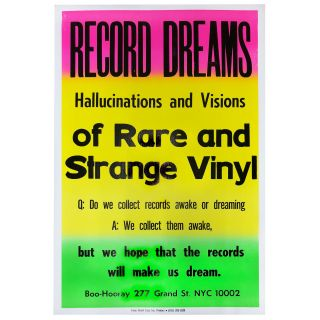 Record Dreams Poster. Boo-Hooray