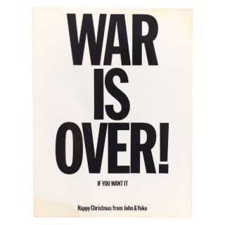 War Is Over! ​​[with] Listen to This ​​Balloon. Yoko Ono John Lennon.