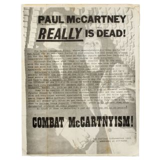 Paul McCartney REALLY Is Dead. A J. Weberman.