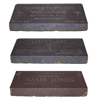 Three Fabricated Tombstones for an Unreleased Music Video. Nas, Nasir Jones