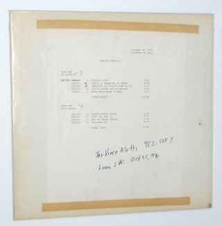 With Everything I Feel In Me [Test Press initialed by Jerry Wexler]. Aretha Franklin