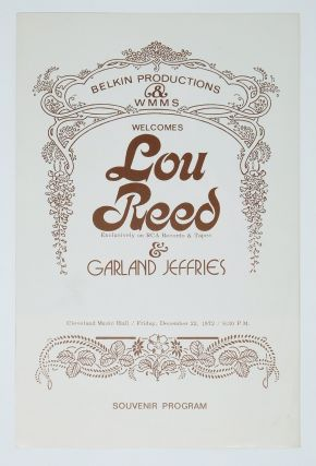 Lou Reed Concert Program