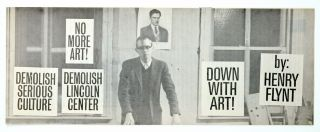 Down With Art. Henry Flynt