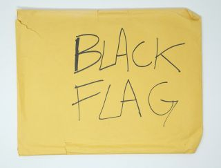 Unpublished Black Flag zine maquette with ephemera in original mailing envelope