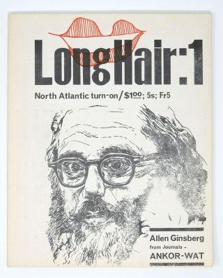 Long Hair, vol. 1. no. 1. Barry Miles, ed Ted Berrigan, Allen Ginsberg, ed. Ted Berrigan