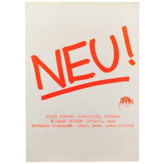 NEU! Poster for the first Neu LP