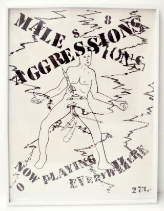 Male Aggressions: Now Playing Everywhere. Jonathan Borofsky