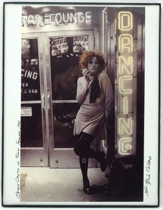 """Jackie Curtis in Times Square, 1969"". Leee Black Childers"