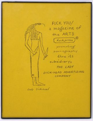 Lady Dick-head Advertising Company Flyer. Ed Sanders