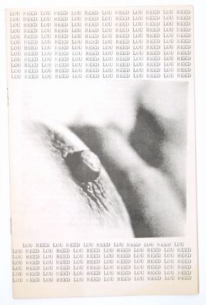 Untitled] Lou Reed Fanzine. Brian Cullman, Robot Hull