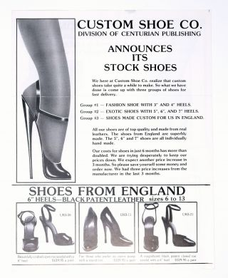 Mail order catalog for women's heels