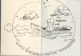 Non Stop Poetry: The Zines of Mark Gonzales [signed with original drawing inside]