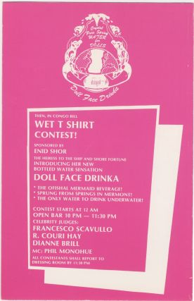 Valentine's Day with Mermaids on Heroin Danceteria fold-out flyer