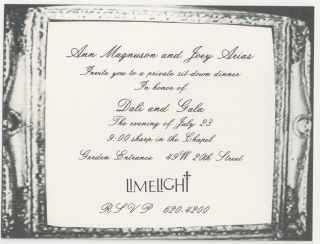Ann Magnuson & Joey Arias Invite you to an Evening of Surrealism invitation and fold-out flyer